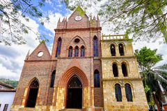 Valle de San Jose Church View in Santander, Colombia stock images