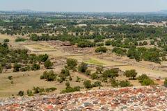 Valle de Teotihuacan Imagen de archivo