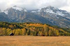 Valle de Teton en la caída Imagenes de archivo