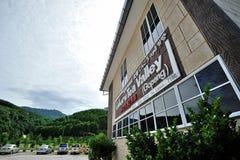 Vallée de thé de Gaharu Photos stock