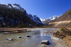 Valle de Tsopta, Sikkim. Fotos de archivo