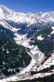 Valle de Tuxtal en las montañas austríacas Foto de archivo libre de regalías
