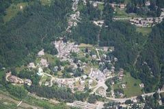 Valle de Val Vigezzo - una ciudad Fotografía de archivo