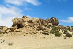 Valle DE van rotsvormingen La Luna (Ischigualasto), Argentinië Stock Afbeeldingen