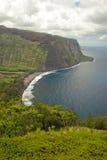 Valle de Waipio (costa) de Hamakua, Hawaii Imagen de archivo libre de regalías