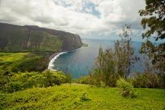 Valle de Waipio (costa) de Hamakua, Hawaii Fotografía de archivo libre de regalías