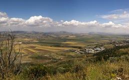 Valle de Yizrael de la opinión de Pnoramic Imagen de archivo