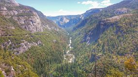 Valle de Yosemite en la opinión del túnel Foto de archivo
