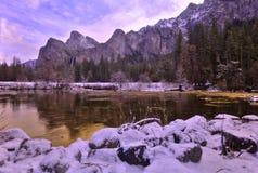 Valle de Yosemite en la opinión del túnel Imagen de archivo libre de regalías