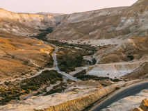 Valle de Zin en la puesta del sol Imágenes de archivo libres de regalías