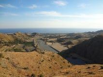 Valle debajo de Pentedattilo Fotos de archivo