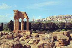 Valle dei Templi, Agrigento, Sicily Obrazy Stock