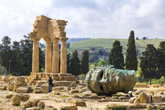 Valle dei Templi, Agrigento, Sicily Fotografia Stock