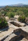 Valle dei Templi - Sicilien Arkivfoton