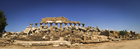 Valle dei Templi, tempelruïnes, Agrigento, Italië Stock Foto's