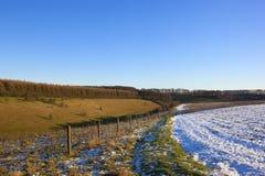 Valle dei wolds di Yorkshire Fotografia Stock Libera da Diritti