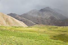 Valle del Aconcagua coperta dalle nubi Fotografia Stock Libera da Diritti