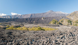 The Valle del Bove, big desert lava valley in the eastern flank of volcano Etna Stock Images