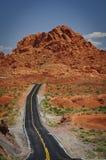 Valle del camino del fuego Fotografía de archivo