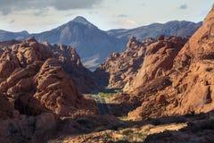 Valle del camino del fuego Fotografía de archivo libre de regalías