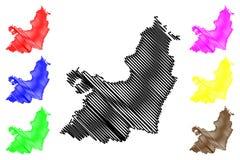 Valle del Cauca Avdelning ?versiktsvektor stock illustrationer