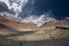 Valle del deserto Fotografia Stock