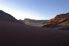 Valle del deserto di atacama della luna Fotografia Stock