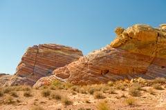 Valle del deserto Nevada del fuoco Immagine Stock Libera da Diritti