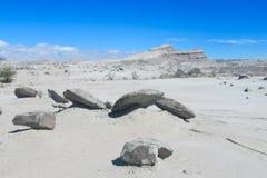 Valle del desierto de Ischigualasto Imagenes de archivo