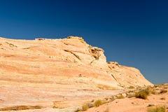 Valle del desierto del fuego escénico Fotos de archivo libres de regalías