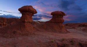 Valle del duende en la puesta del sol Fotos de archivo libres de regalías