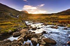 Valle del fiordo de Seydisfjordur Imágenes de archivo libres de regalías