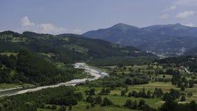 Valle del fiume Cesalpina Fotografie Stock Libere da Diritti