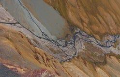 Valle del fiume della montagna Fotografie Stock