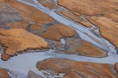 Valle del fiume della montagna Fotografie Stock Libere da Diritti