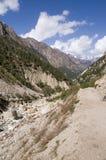 Valle del fiume di Bhagirathi (Ganga) Fotografie Stock