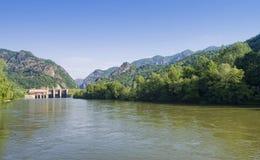 Valle del fiume di Olt Fotografia Stock