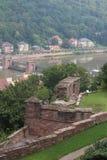 Valle del fiume Neckar fotografia stock