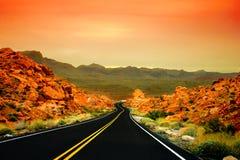 Valle del fuego, Nevada Foto de archivo libre de regalías