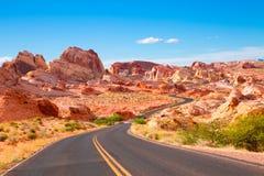 Valle del fuego Nevada imagen de archivo