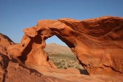 Valle del fuego - roca del arco Foto de archivo