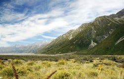 Valle del ghiacciaio di Tasman Immagini Stock