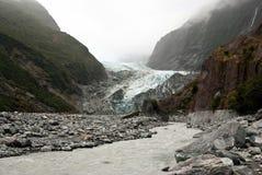 Valle del glaciar de Francisco José Fotos de archivo
