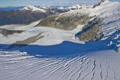 Valle del glaciar de Mendenhall Imágenes de archivo libres de regalías