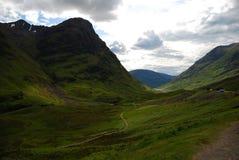Valle del Glencoe immagine stock