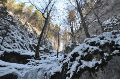Valle del hielo de la montaña Imagen de archivo