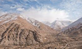 Valle del Indus in inverno Fotografie Stock Libere da Diritti