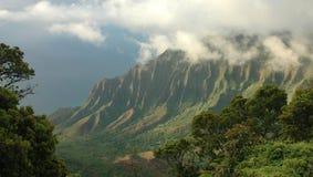 valle del Kauai di kalalau Fotografie Stock Libere da Diritti