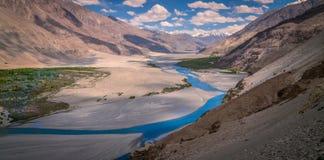 Valle del ladakh de Leh imagen de archivo libre de regalías