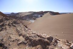 Valle del Luna - dolina księżyc w atacama, chile zdjęcie stock